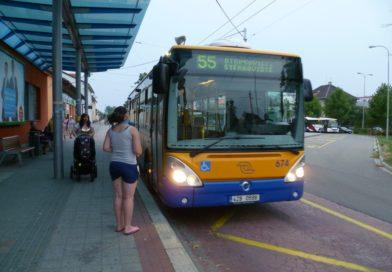 Úprava linky č 55 Otrokovice – Štěrkoviště